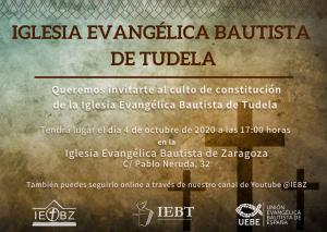 Invitación Culto IEB Tudela
